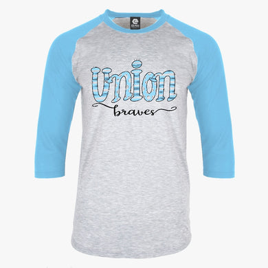 Union County Braves Hand Drawn Unisex Spirit Raglan