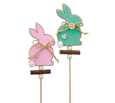 Easter Bunny Pick Assortment Pink and Teal