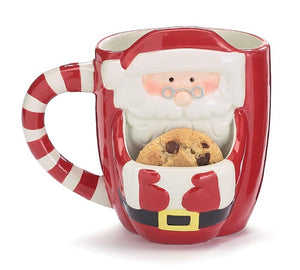 SANTA WITH POUCH FOR COOKIE MUG