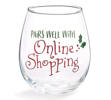 STEMLESS PAIRS WELL WITH ONLINE SHOPPING