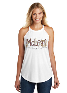 McLean Cougars Hand Drawn Ladies High Neck Tank