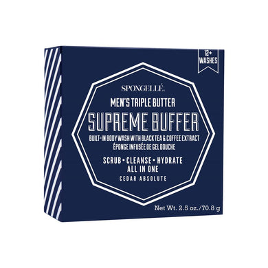 Spongelle Mens Triple Butter Supreme Buffer