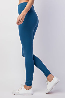 Buttery Soft Full Length Leggings in Teal
