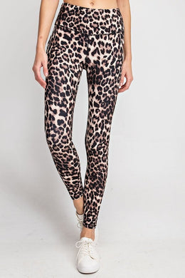 Buttery Soft Full Length Leggings in Animal Print In Black or Brown