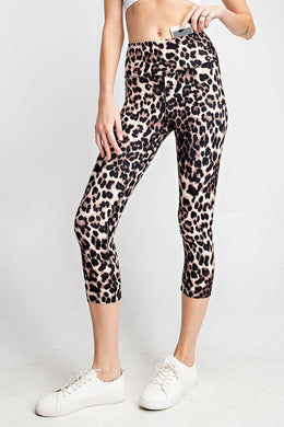 Buttery Soft Capri Leggings in Animal Print