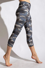 Load image into Gallery viewer, Camo Buttery Super Soft Capri length, high waist band leggings