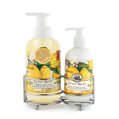 Lemon Basil Hand Soap/Lotion Caddy