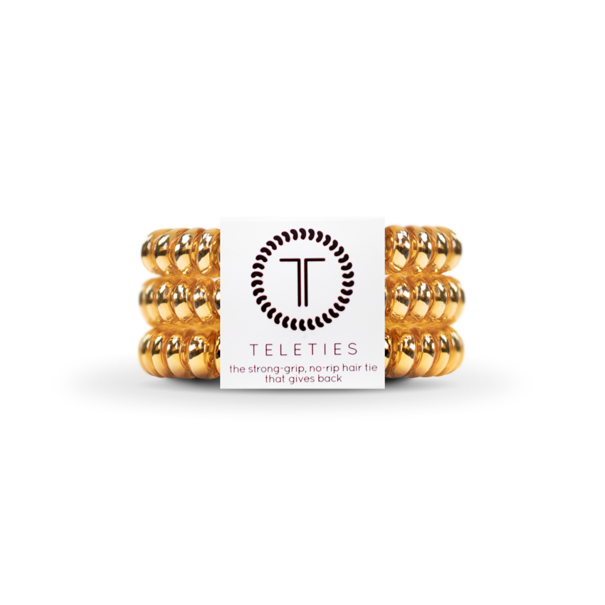 Champagne Gold Teleties Small 3-Pack Hair Tie