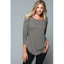 Load image into Gallery viewer, Ladies Long Sleeve Tunic Tee in 3 Color options