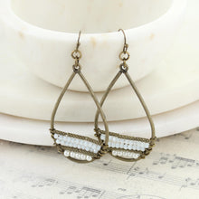 Load image into Gallery viewer, Vintage Teardrop Earrings With Seed Beads