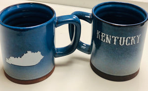 Kentucky Pottery Mug Blue