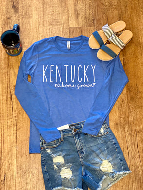 Kentucky Home Grown heather Long sleeve Unisex Tee