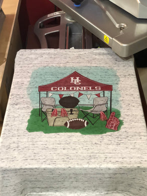 Henderson Colonels Football Spirit Tee