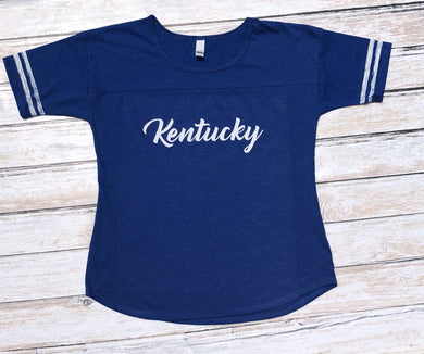 Kentucky Ladies Heather Blue Spirit Tee