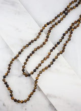 Load image into Gallery viewer, Long Stone Bead Wrap Necklace in Three Color Options