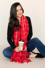 Load image into Gallery viewer, Red Plaid Scarf