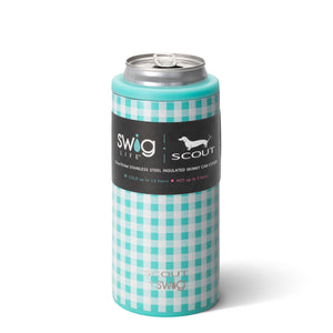 Swig 12oz Skinny Can Cooler Barnaby Checkham by Scout