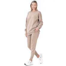 Load image into Gallery viewer, Ladies Sweatshirt and Sweatpants Set in Ash Mocha