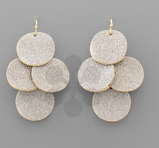 Multi Glitter Disc Earrings