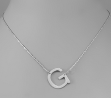 Load image into Gallery viewer, Silver Initial Necklace In Several Initial Options