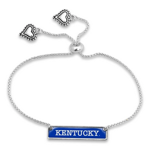 Silver Tone Kentucky Adjustable Bracelet