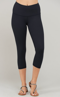 Buttery Super Soft Capri length, high waist band leggings with front key pocket