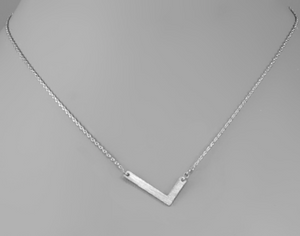 Silver Initial Necklace In Several Initial Options