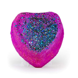 Large Surprise Bath Bomb Light Up Glitter Pink Heart
