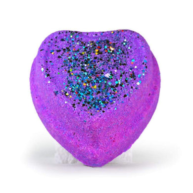 Large Surprise Bath Bomb Light Up Glitter Purple Heart