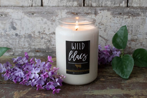 Wild Lilacs 26oz Laundry Day Apothecary Farmhouse Jar Candle