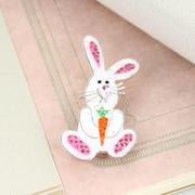 Load image into Gallery viewer, Enamel & Crystal Bunny Pin/Pendant