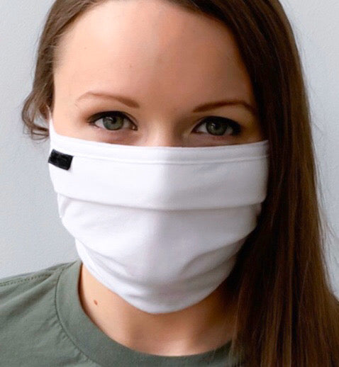 Face Mask Anti-Microbial Double Layer Cotton Adjustable (Current Ship Time from the manufacturer to us is 2-3 business days) arriving around May 26