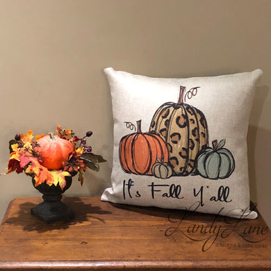 It's Fall Y'all Pumpkin Pillow