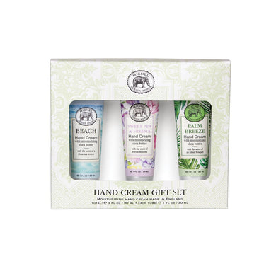 Hand Cream Gift Set By Michel Design Works In Beach, Sweet Pea and Palm Breeze