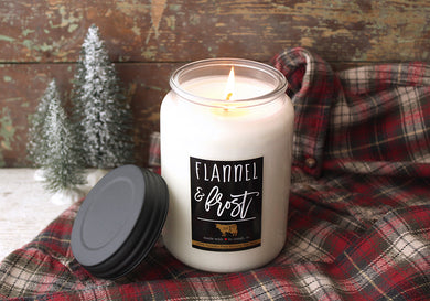 26oz Flannel & Frost Apothecary Farmhouse Jar Candle