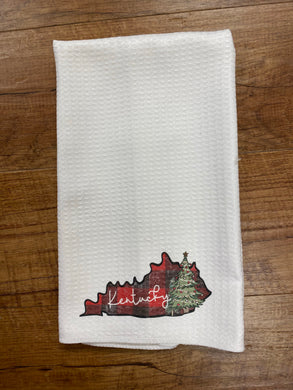 Kentucky Christmas Tea Towel