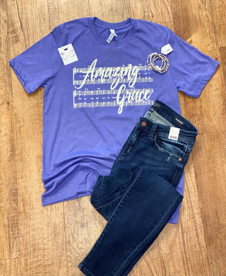 Amazing Grace Bella Unisex Tee In Two Colors