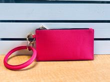 Load image into Gallery viewer, Bangle Wristlet Clutch Keychain  In Several Colors and Prints