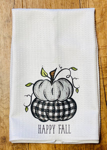 Happy Fall Tea Towel