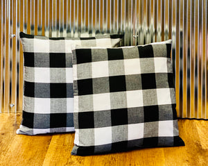 Black & White Buffalo Plaid Pillow