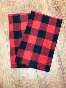 Red & Black Buffalo Plaid Tea Towel