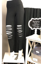 Load image into Gallery viewer, Buttery Soft Full Length Wide Waist Band With Laser Cut Leggings In Black