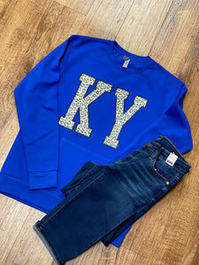 Ky Animal Print Fleece Pocket Unisex Crew Sweatshirt