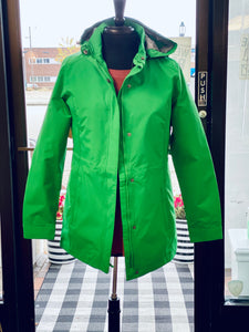 Charles River Ladies Logan Rain Jacket - Green