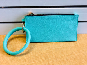 Bangle Wristlet Clutch Keychain  In Several Colors and Prints