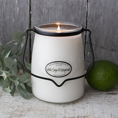 White Sage & Bergamot - 22-Ounce Butter Jar Candle