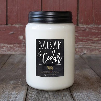 26oz Balsam & Cedar Apothecary Farmhouse Jar Candle