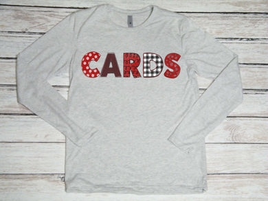 Cardinals CARDS heather Long sleeve Unisex Tee