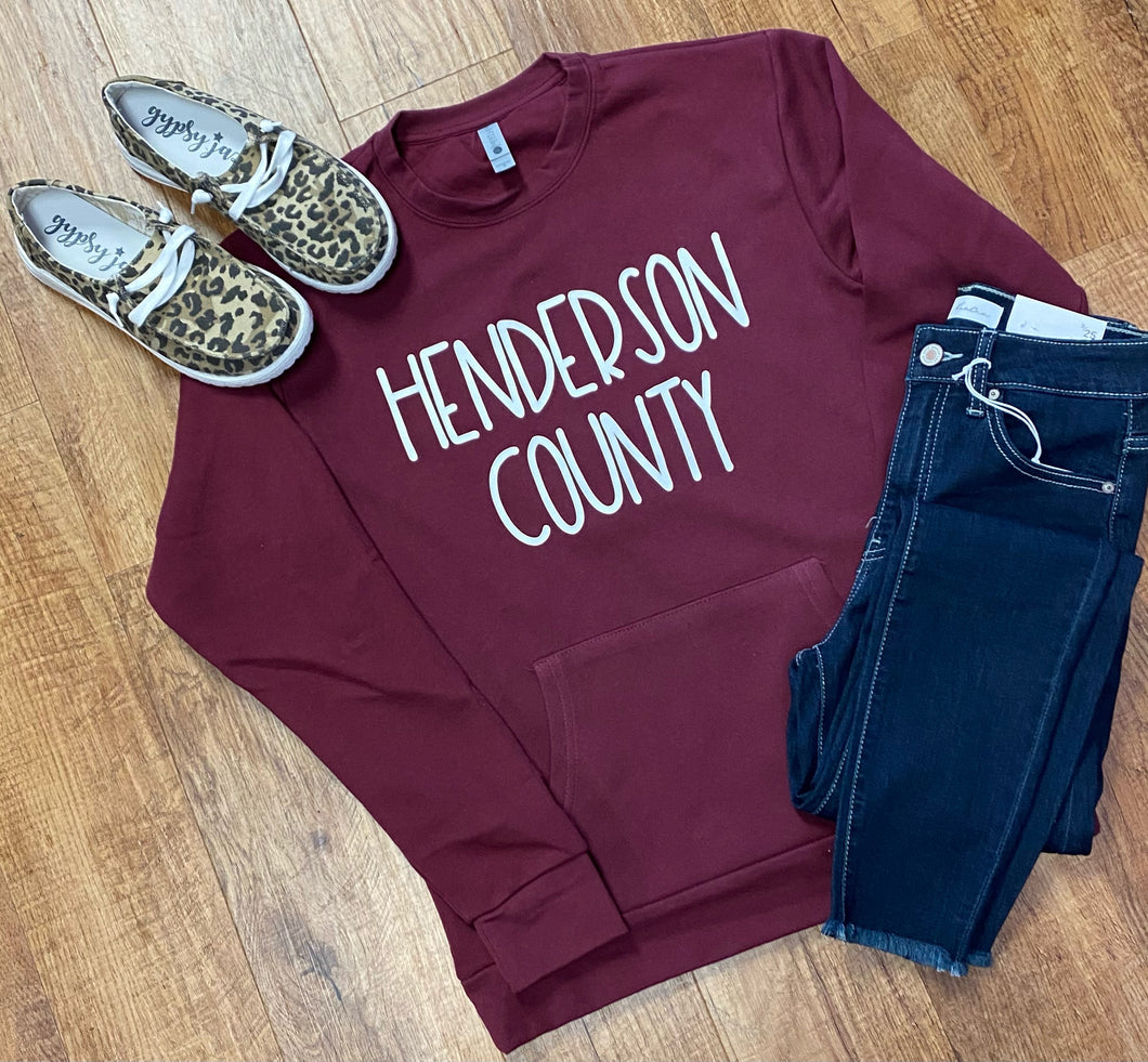 Henderson County Unisex Pocket Crew Sweatshirt