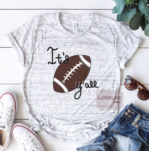 It's Football Y'all Hand Drawn Spirit Tee